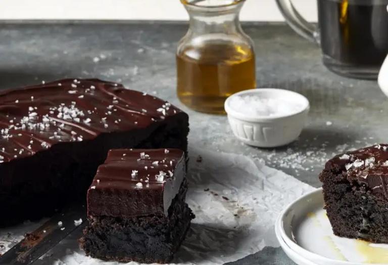 Brownies de Chocolate e Sal Marinho Receita KitchenAid Portugal