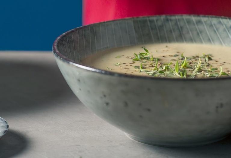 Sopa Mágica Cogumelos Receita KitchenAid Portugal