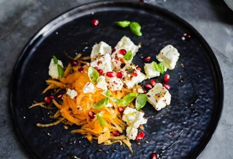 Salada de Melão Romã Feta Receita KitchenAid Portugal